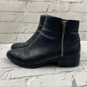 Ado leather ankle boots with side zipper